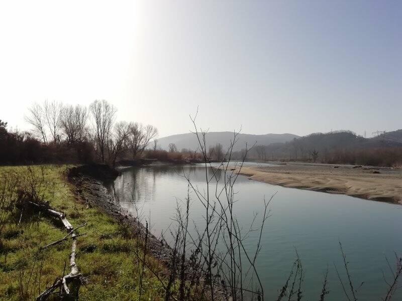 Il fiume Magra verso Battifollo