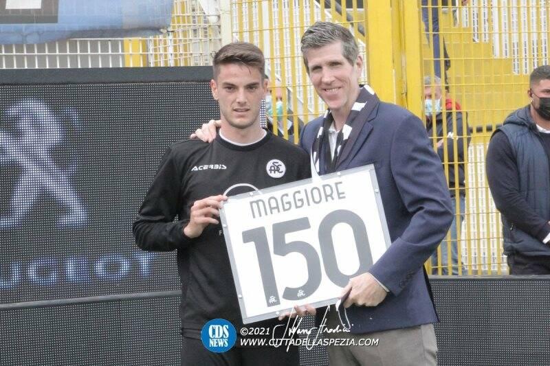 Giulio Maggiore con Robert Platek: 150 presenze in maglia bianca
