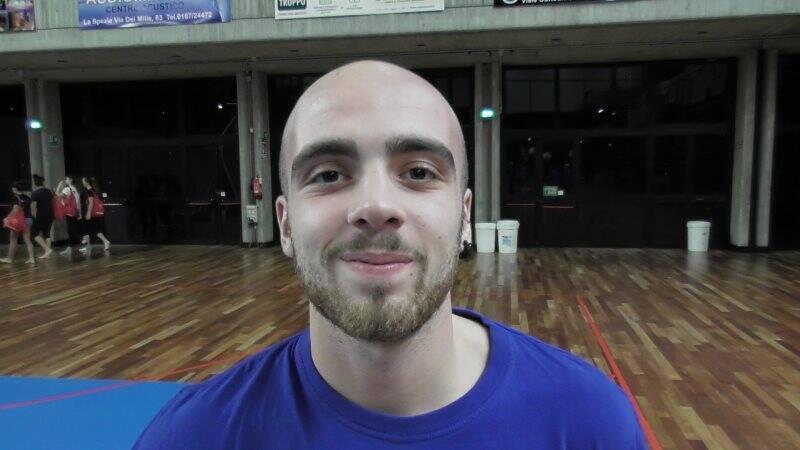 Il palleggiatore Stefano Paoletti