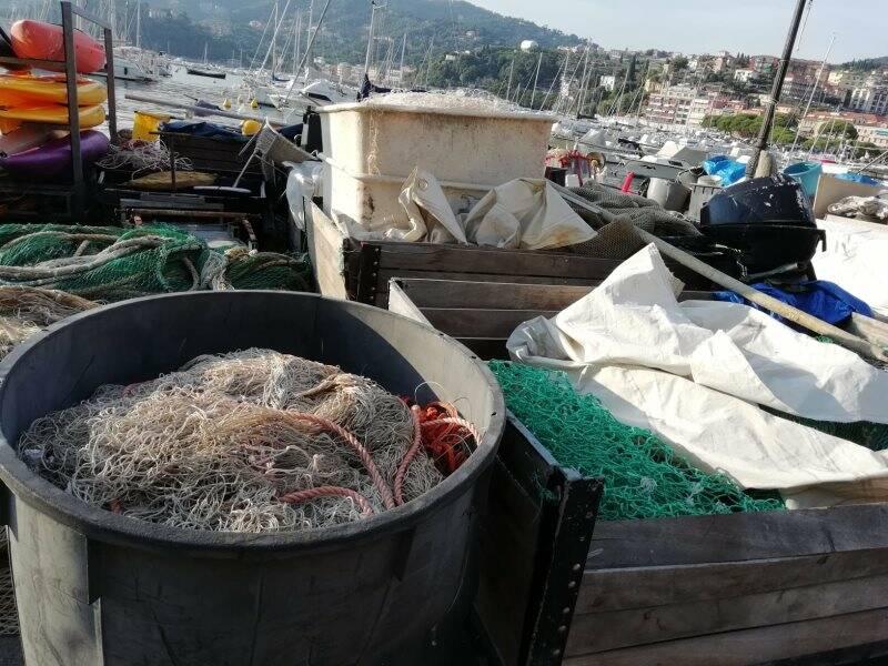 Lerici, reti da pesca in Calata Mazzini
