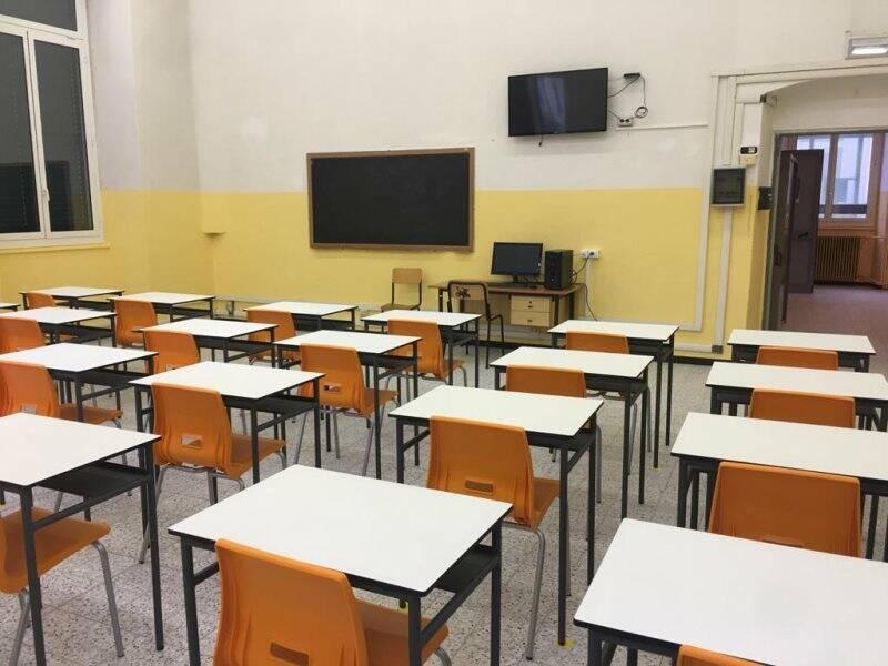 Una classe dell'istituto Chiodo