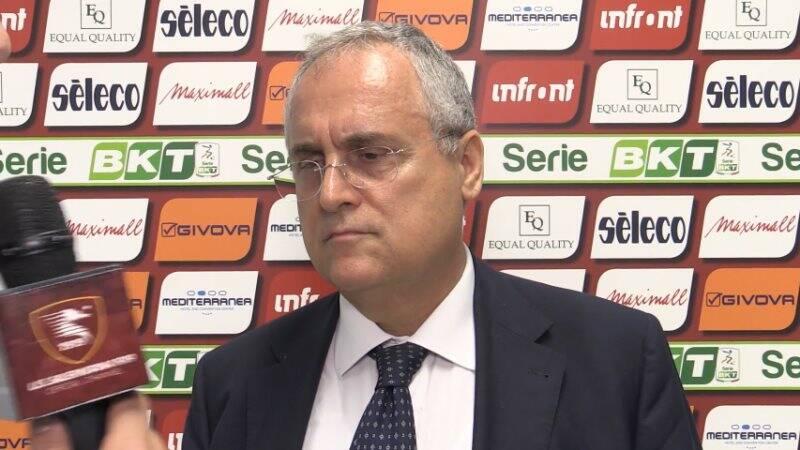 Claudio Lotito in versione Salernitana