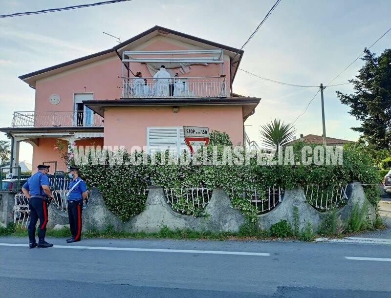 Il luogo della tragedia in via Baccanella