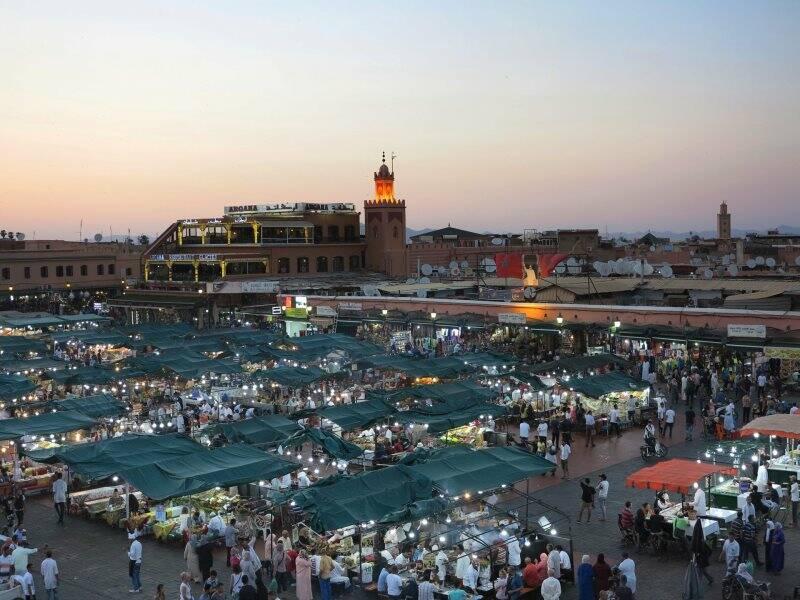 Marrakech, piazza Jemaa el Fna (2018) (foto Giorgio Pagano)