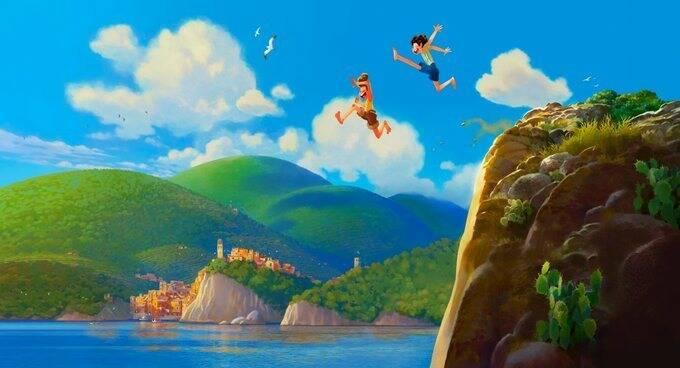 Un'immagine del film di Luca Casarosa prodotto dalla Disney Pixar