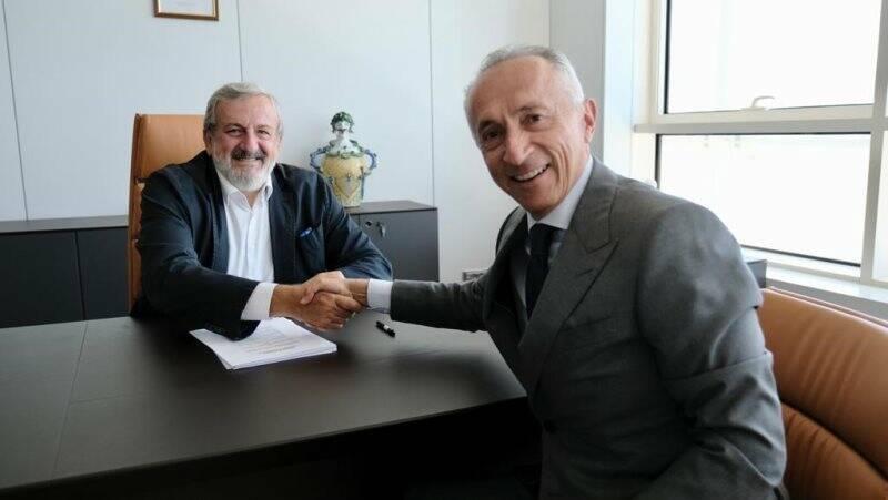 Alberto Galassi con Presidente della Regione Michele Emiliano