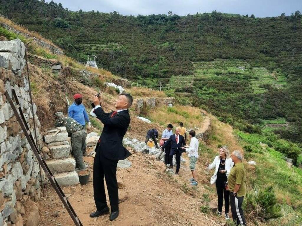 Delegazione cinese in visita alle Cinque Terre