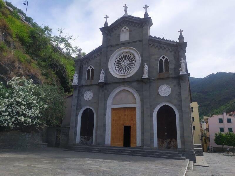 La chiesa di Riomaggiore
