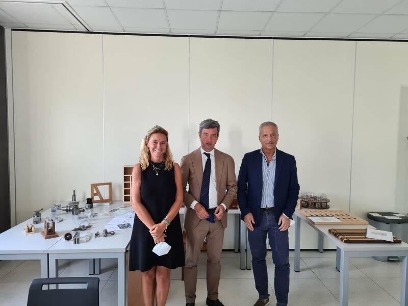 La presidente Giorgia Bucchioni, il ministro Andrea Orlando e il direttore Riccardo Papa