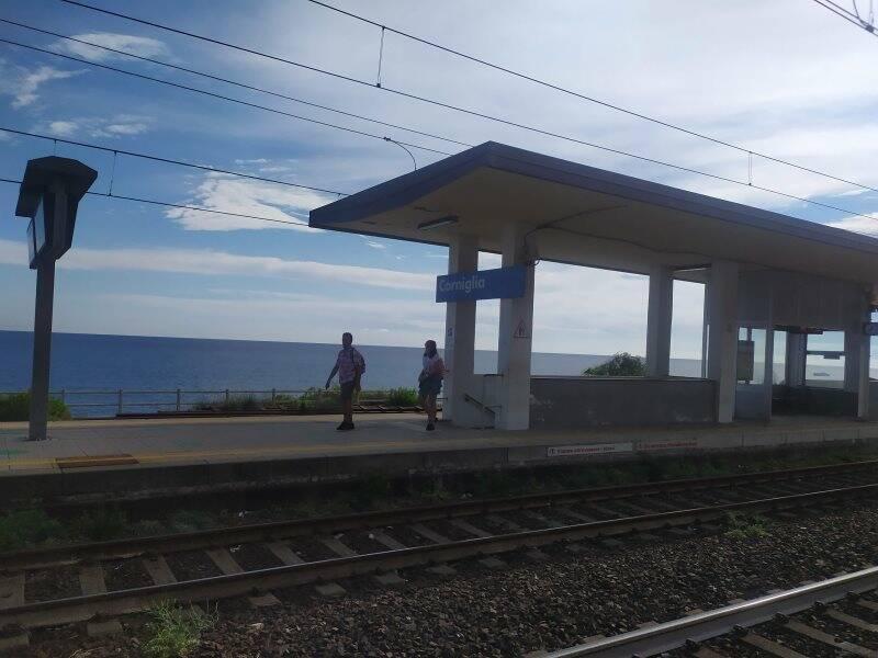 La stazione ferroviaria di Corniglia