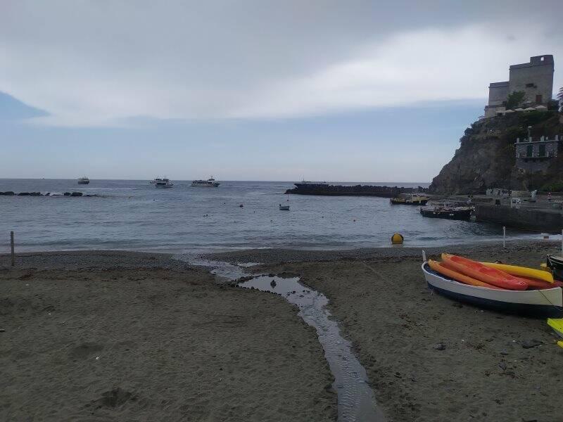 Monterosso in un giorno di pioggia