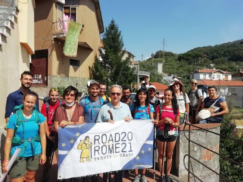 Road to Rome 2021, pellegrini a Ponzano superiore