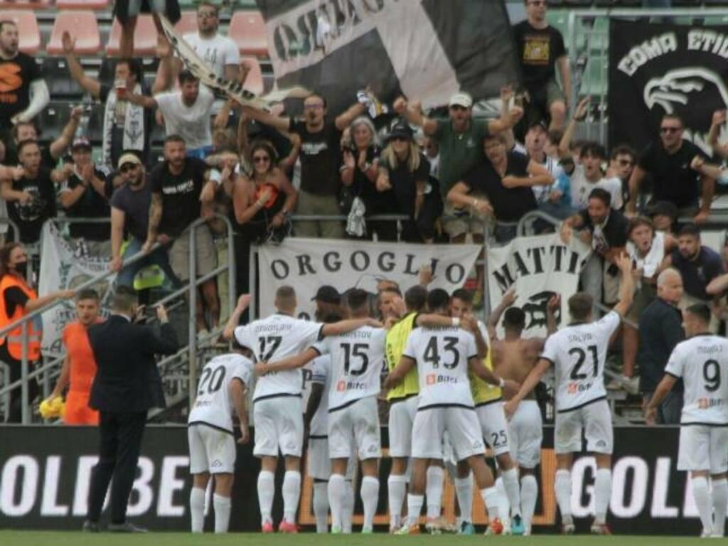 Esultanza finale: Venezia-Spezia 1-2