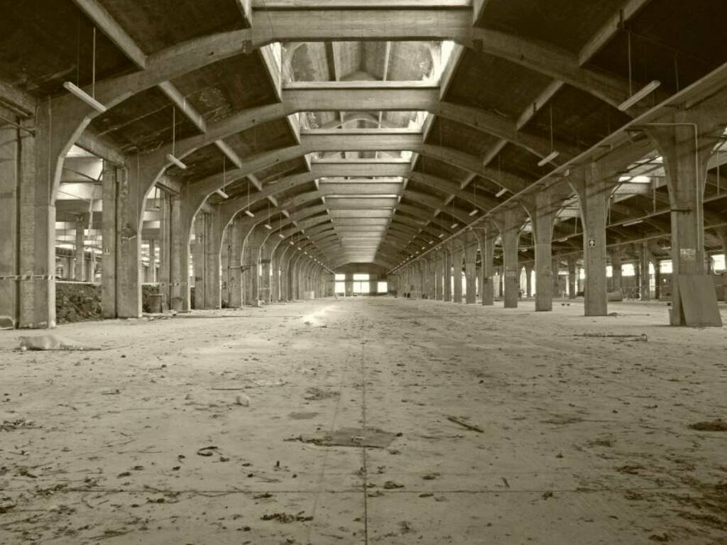 I capannoni della ex Vaccari visti da Giuliano Venturelli