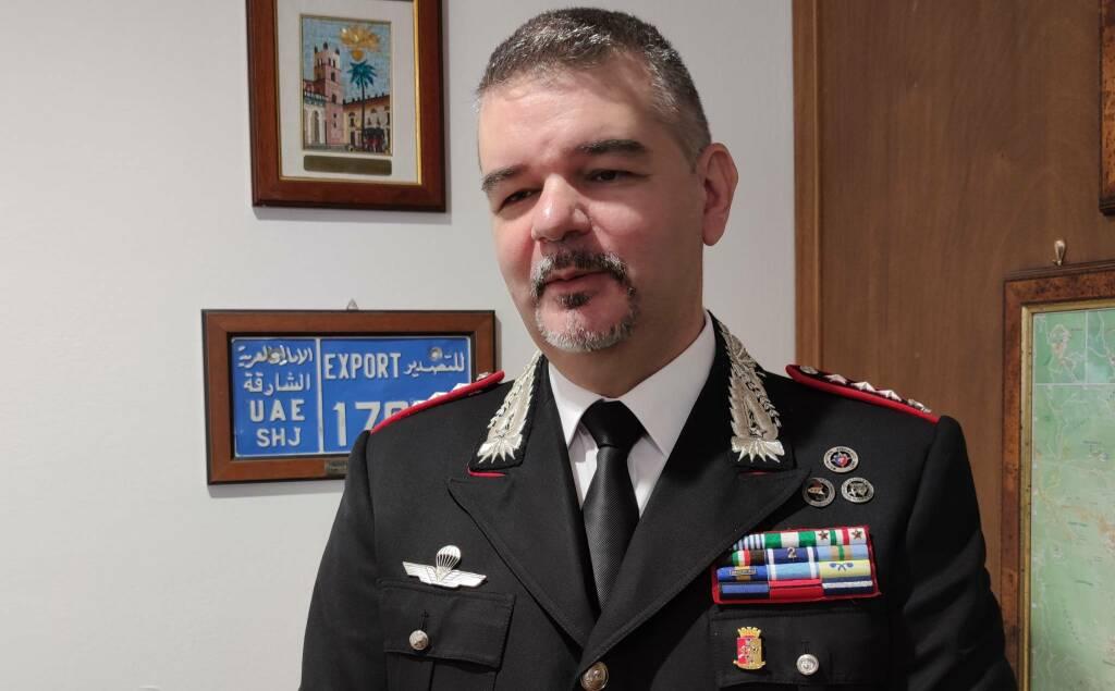 Il colonnello Matteo Gabelloni, comandante provinciale dei Carabinieri