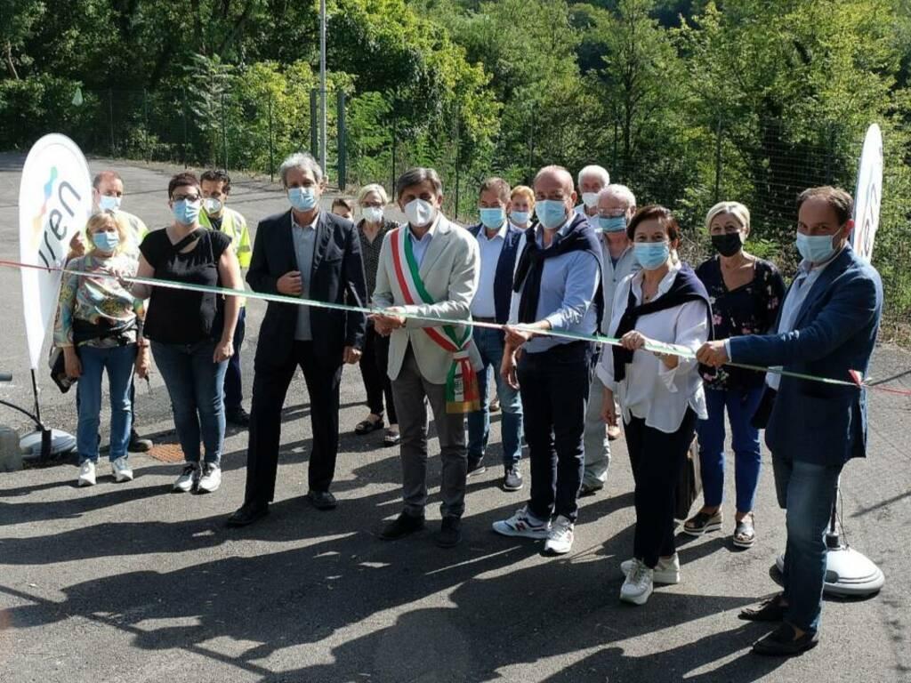 L'inaugurazione del Centro di raccolta di Acam Ambiente a Sesta Godano