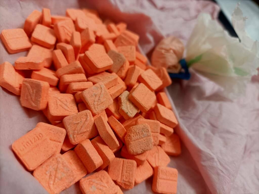 Le pastiglie di Mdma sequestrate