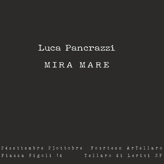 Luca Pancrazzi a FourteenArTellaro con Mira Mare