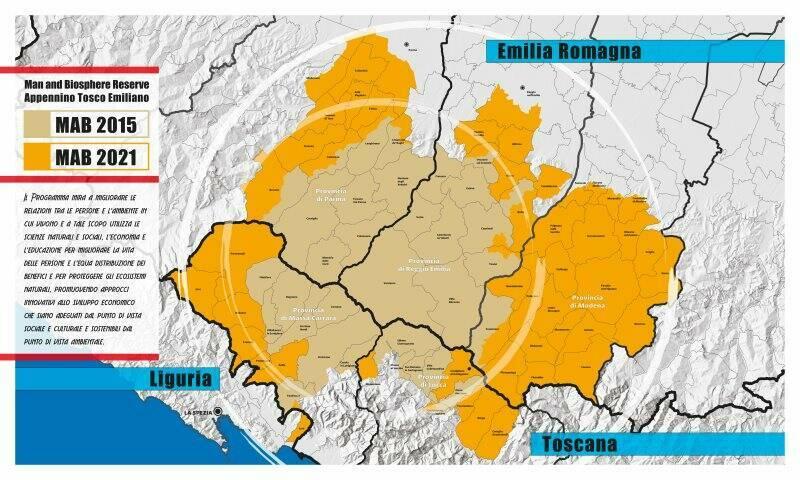 Mappa Mab biosfera Unesco