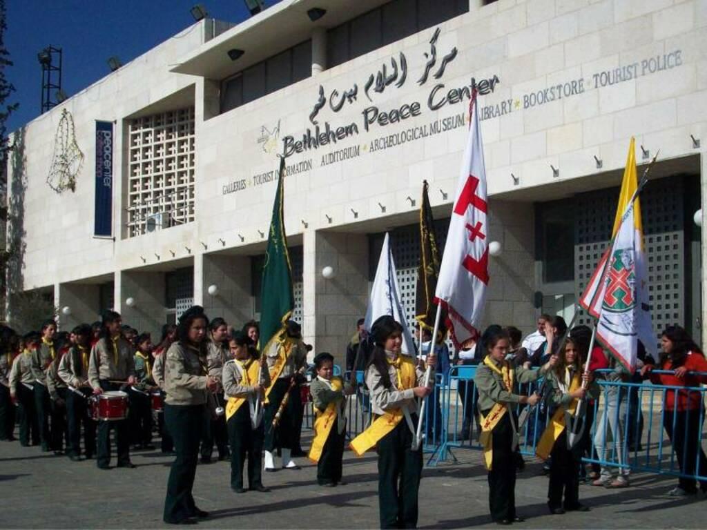 Palestina, Betlemme, Manifestazione per la pace al Bethleem Peace Center (2009) (foto Giorgio Pagano)