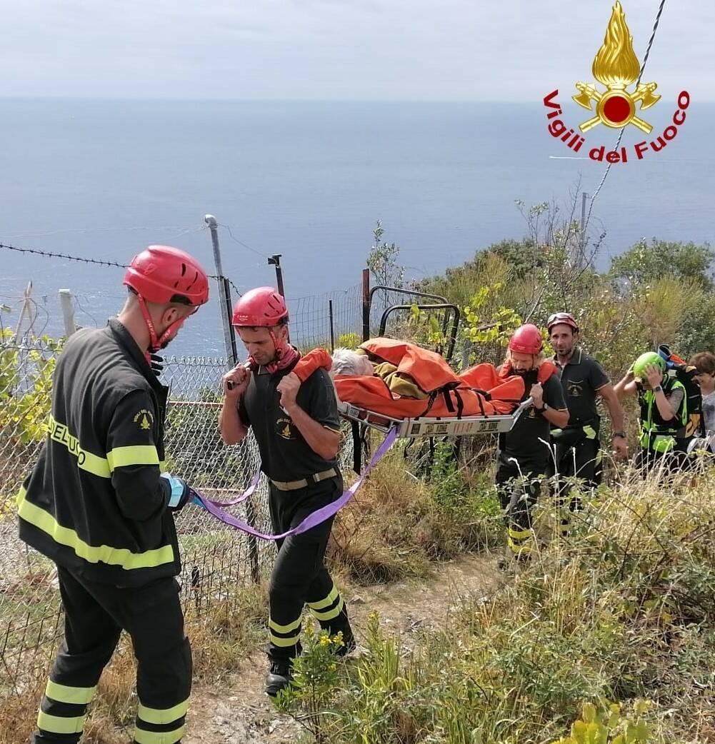 Turista soccorso dai Vigili del fuoco