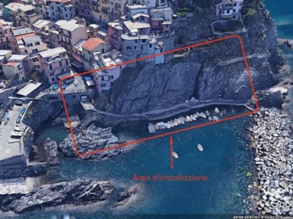 Dove verranno installate le colonnine di ricarica per le imbarcazioni elettriche a Manarola e Vernazza